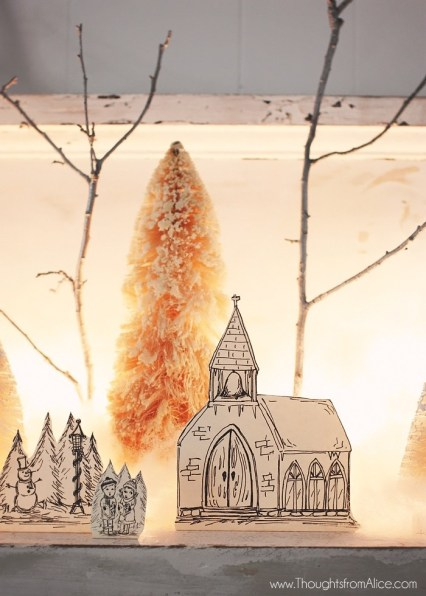 Anthropologie-Inspired-Christmas-Village-Church-1