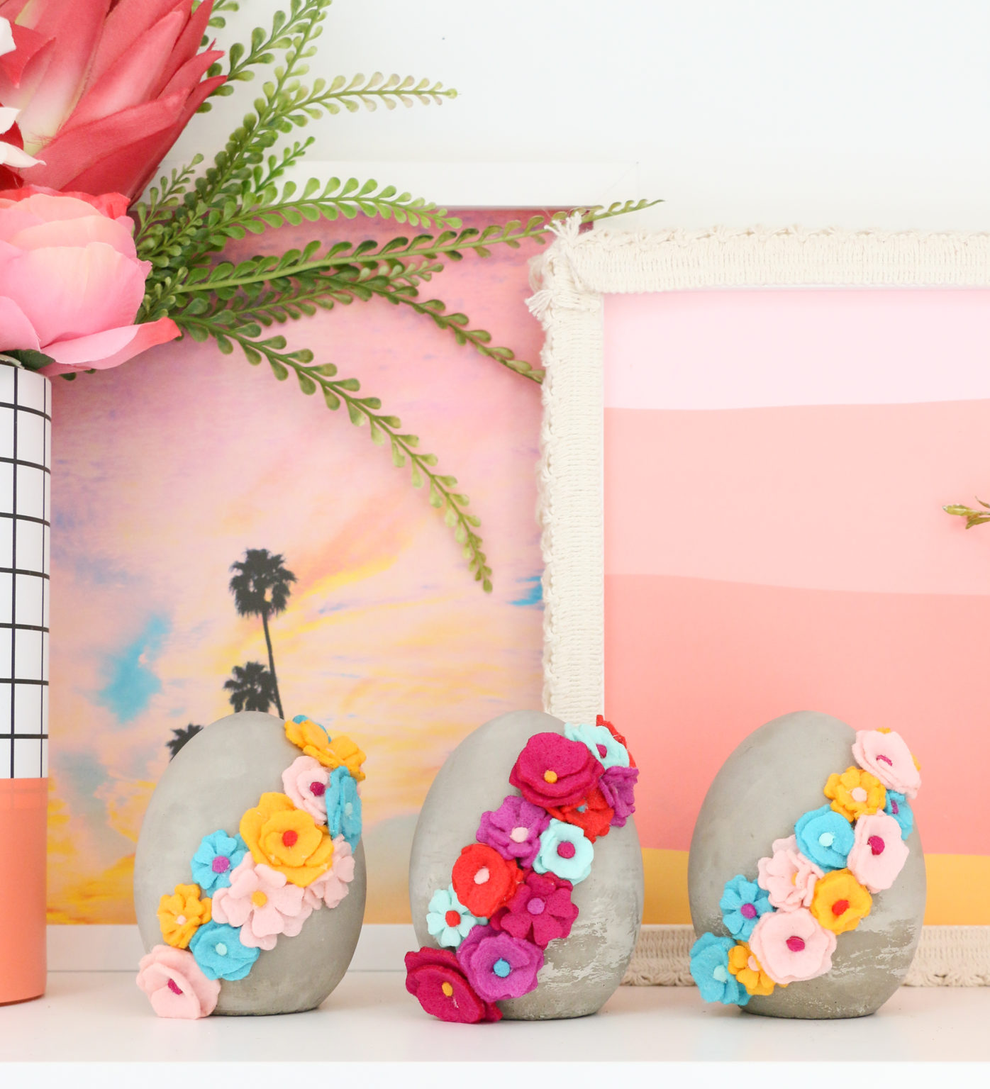 DIY-Felt-Flower-Wrapped-Cement-Eggs-10-1396x1536