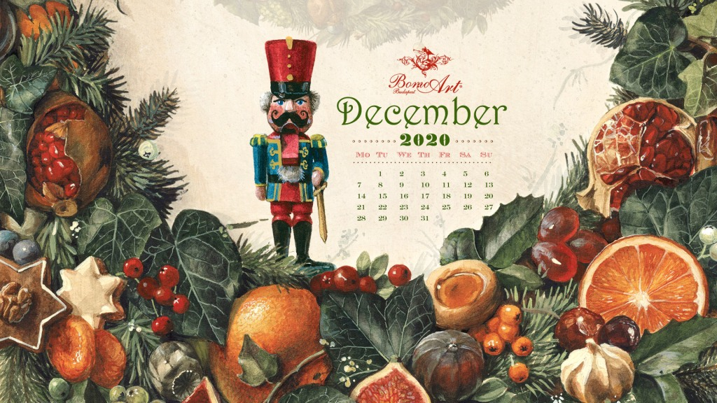 This image has an empty alt attribute; its file name is bomo_wallpaper_2020_december_christmas_wreath_hd_1920x1080px.jpg